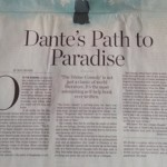 Dante Essay in the WSJ is full of Ponderables…